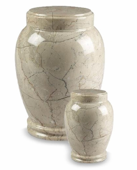 Botticino Column Marble Cremation Urn