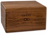 Boxwood Walnut Wood Companion Cremation Urn