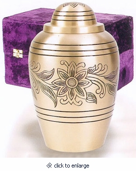 Brass Bouquet Brass Cremation Urn