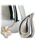 Bright Silver Tear Drop Keepsake Cremation Urn