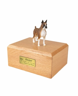 Brindle Boxer Dog Figurine Pet Cremation Urn - 031