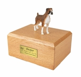 Brindle Boxer Dog Figurine Pet Cremation Urn - 032