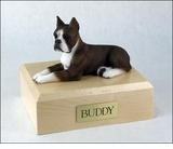 Brindle Boxer Dog Figurine Pet Cremation Urn - 1127