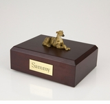 Brindle Greyhound Dog Figurine Pet Cremation Urn - 4019