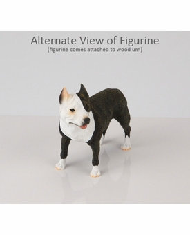 Brindle Pit Bull Terrier Dog Figurine Pet Cremation Urn - 165