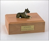 Brindle Pit Bull Terrier Dog Figurine Pet Cremation Urn - 1888