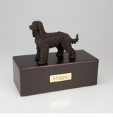 Bronze Afghan Dog Figurine -Simply Walnut- Pet Cremation Urn - 404
