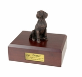 Bronze Beagle Dog Figurine Pet Cremation Urn - 407