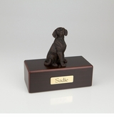 Bronze Beagle Dog Figurine -Simply Walnut- Pet Cremation Urn - 407