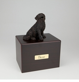 Bronze Bernese Mountain Dog Figurine -Simply Walnut- Pet Cremation Urn - 408