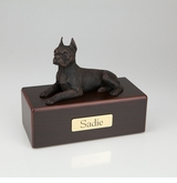 Bronze Boston Terrier Dog Figurine -Simply Walnut- Pet Cremation Urn - 412