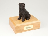 Bronze Bouvier Dog Figurine Pet Cremation Urn - 413