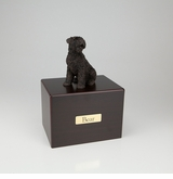 Bronze Bouvier Dog Figurine -Simply Walnut- Pet Cremation Urn - 413