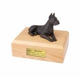 Bronze Boxer Dog Figurine Pet Cremation Urn - 415