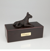 Bronze Boxer Dog Figurine -Simply Walnut- Pet Cremation Urn - 415