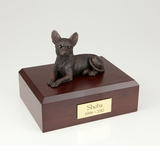 Bronze Chihuahua Dog Figurine Pet Cremation Urn - 420