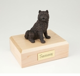 Bronze Chow Chow Dog Figurine Pet Cremation Urn - 421