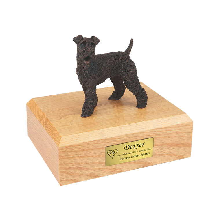 Fox Terrier Pet Funeral Cremation Urn Available in 3 Different Colors /& 4 Sizes