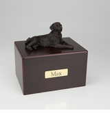 Bronze Golden Retriever Dog Figurine -Simply Walnut- Pet Cremation Urn - 432