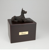 Bronze Great Dane Dog Figurine -Simply Walnut- Pet Cremation Urn - 434