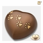 Bronze Heart Paw Print Large Pet Cremation Urn