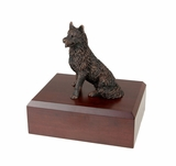 Bronze Husky Dog Figurine Pet Cremation Urn - 436