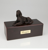Bronze Irish Setter Dog Figurine -Simply Walnut- Pet Cremation Urn - 437