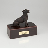 Bronze Jack Russell Terrier Dog Figurine -Simply Walnut- Pet Cremation Urn - 438