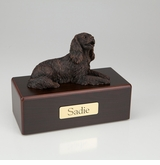 Bronze King Charles Spaniel Dog Figurine -Simply Walnut- Pet Cremation Urn - 439