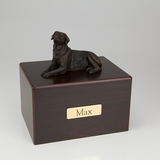 Bronze Labrador Dog Figurine -Simply Walnut- Pet Cremation Urn - 440