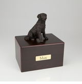 Bronze Long-Haired Labrador Dog Figurine -Simply Walnut- Pet Cremation Urn - 441