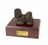 Bronze Maltese Dog Figurine Pet Cremation Urn - 443