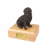 Bronze Newfoundland Dog Figurine Pet Cremation Urn - 444