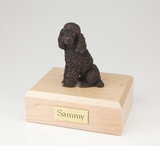 Bronze Poodle Dog Figurine Pet Cremation Urn - 450