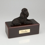 Bronze Poodle Dog Figurine -Simply Walnut- Pet Cremation Urn - 449