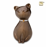 Bronze Princess Cat Pet Cremation Urn