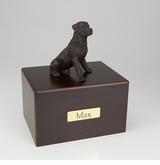 Bronze Rottweiler Dog Figurine -Simply Walnut- Pet Cremation Urn - 452