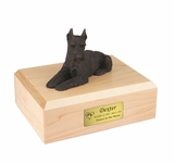 Bronze Schnauzer Dog Figurine Pet Cremation Urn - 455