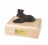 Bronze Schnauzer Dog Figurine Pet Cremation Urn - 456