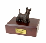 Bronze Scottish Terrier Dog Figurine Pet Cremation Urn - 457