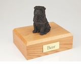 Bronze Shar Pei Dog Figurine Pet Cremation Urn - 458