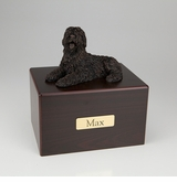 Bronze Sheepdog Dog Figurine -Simply Walnut- Pet Cremation Urn - 459