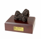 Bronze Shih Tzu Dog Figurine Pet Cremation Urn - 460