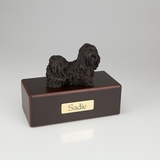 Bronze Shih Tzu Dog Figurine -Simply Walnut- Pet Cremation Urn - 460