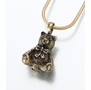 Bronze Teddy Bear Cremation Jewelry