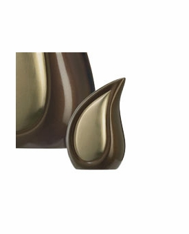 Bronze Tone Tear Drop Keepsake Cremation Urn