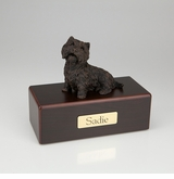 Bronze Westie Dog Figurine -Simply Walnut- Pet Cremation Urn - 464