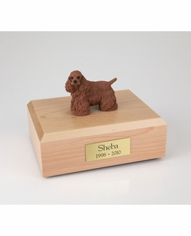 Brown Cocker Spaniel Dog Figurine Pet Cremation Urn - 681