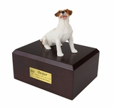 Brown Jack Russell Terrier Dog Figurine Pet Cremation Urn - 129
