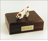 Brown Jack Russell Terrier Dog Figurine Pet Cremation Urn - 338